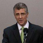 GB helper Robert Luccioni addresses elders on the broadcast
