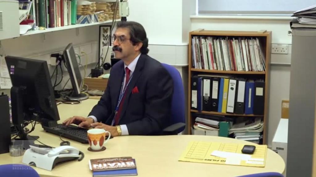 Professor Kalaria busies himself at Newcastle University